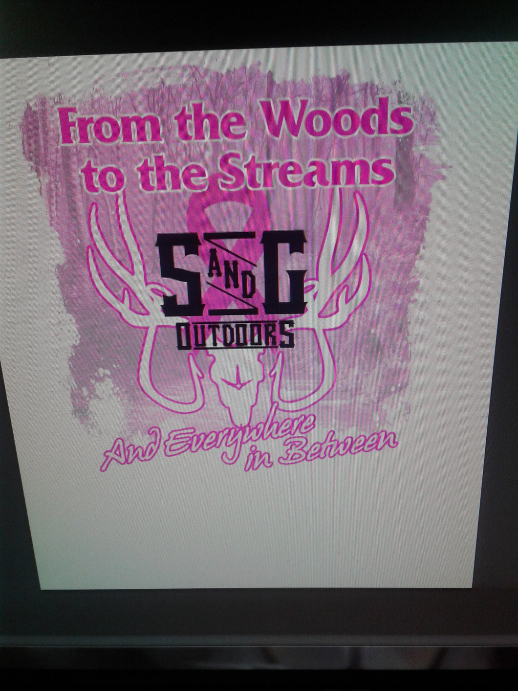 Apparel breast cancer awareness t shirt front and back