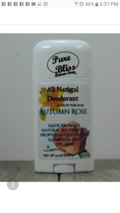 Autumn rose deodorant