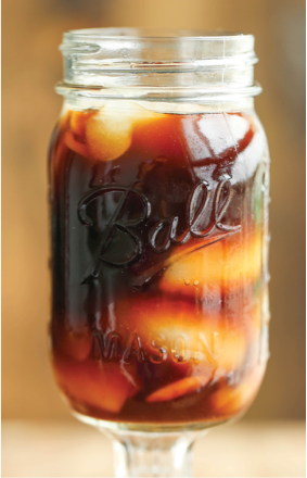 Iced Coffee in a Mason jar
