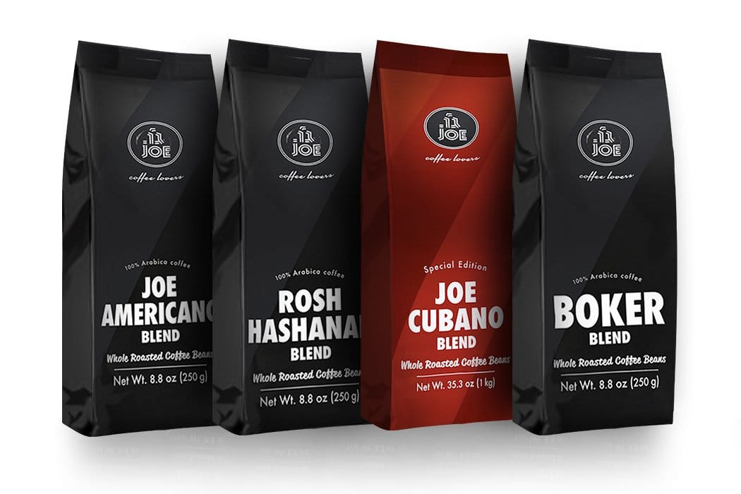 Whole Bean Coffee Blends Variety Pack (4 bags) - Cafe Joe USA