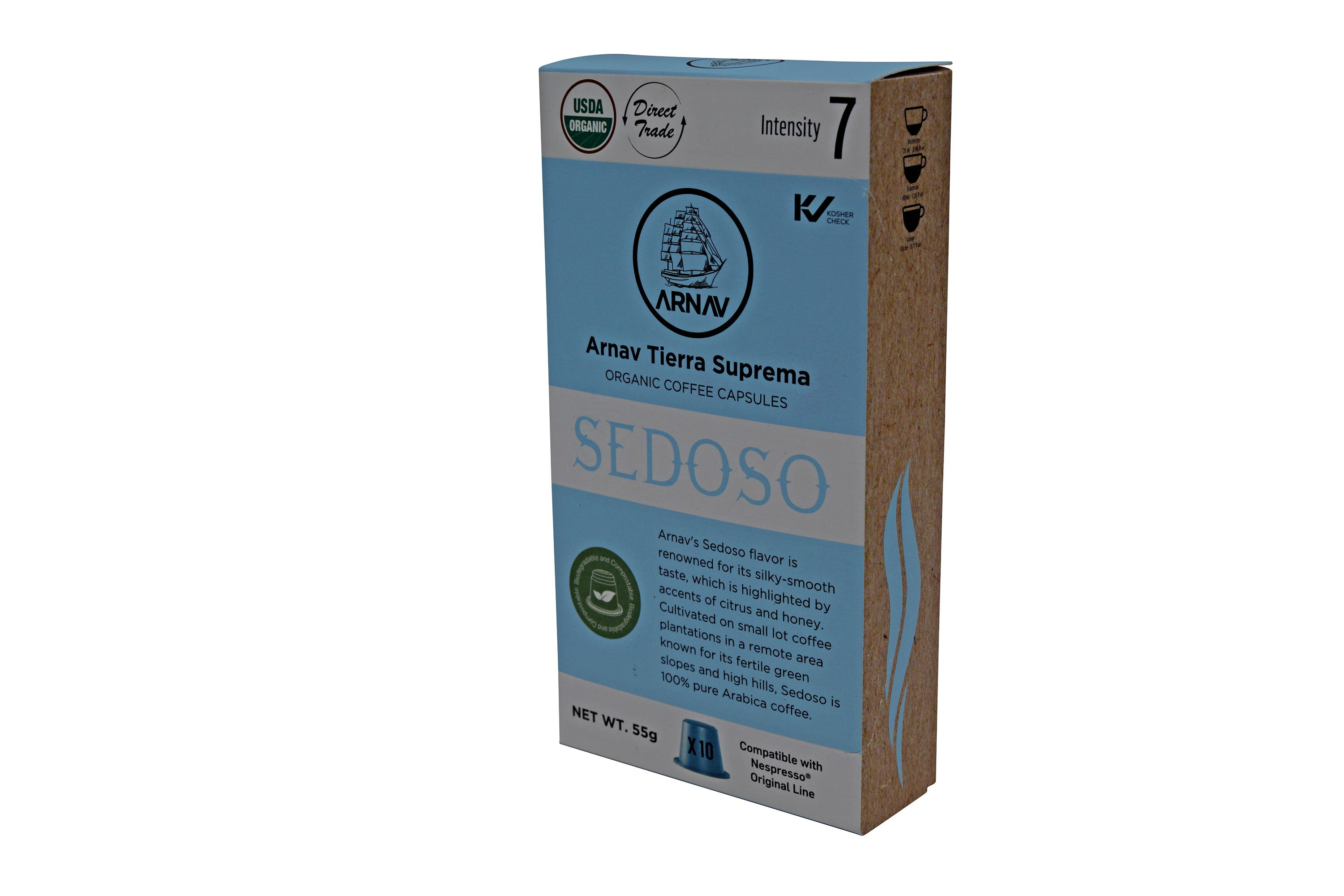 Sedoso Blend Organic Coffee in Biodegradable Capsules