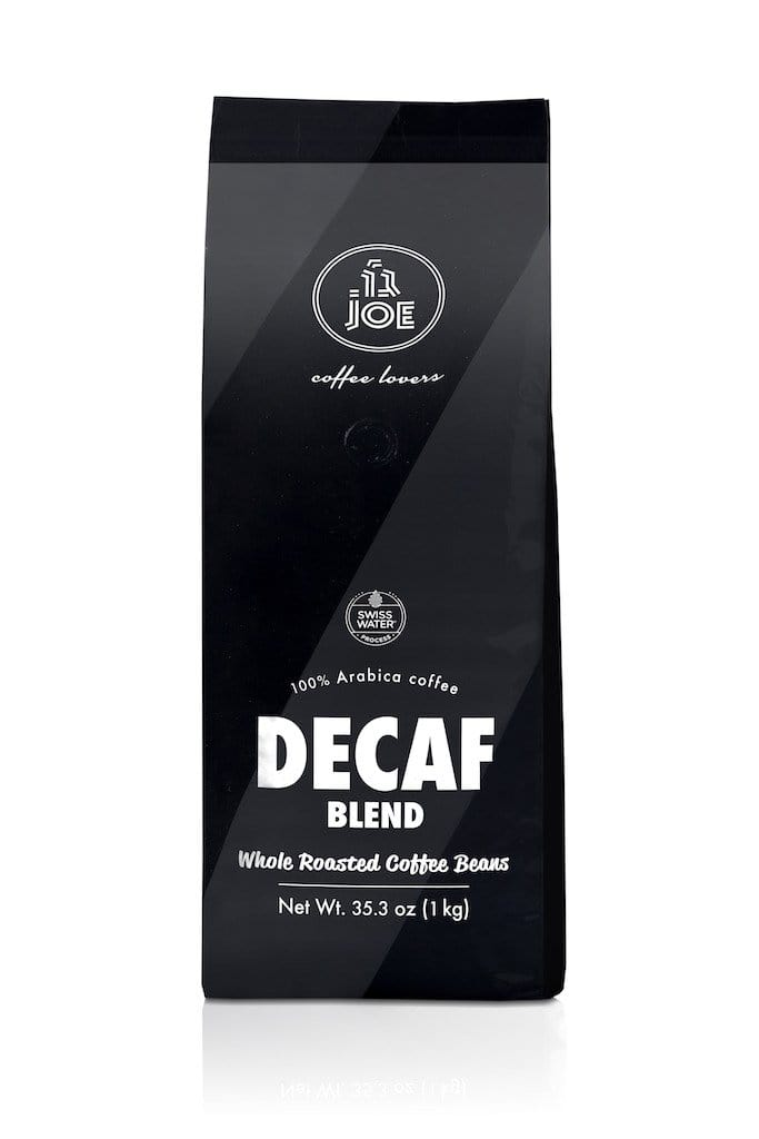 Decaffeinated Blend | Dark Roast | Whole Bean Decaf Coffee - Cafe Joe USA