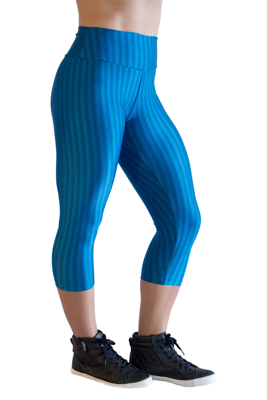 Azul do Mar Cirre Capris - women yoga clothes beBrazil