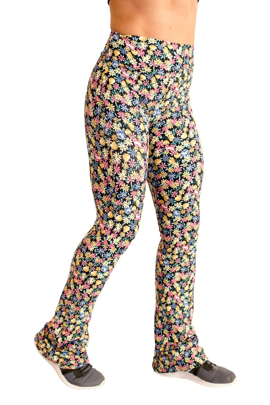 Bailarina Flores Flare CO2 Pants - women yoga clothes beBrazil