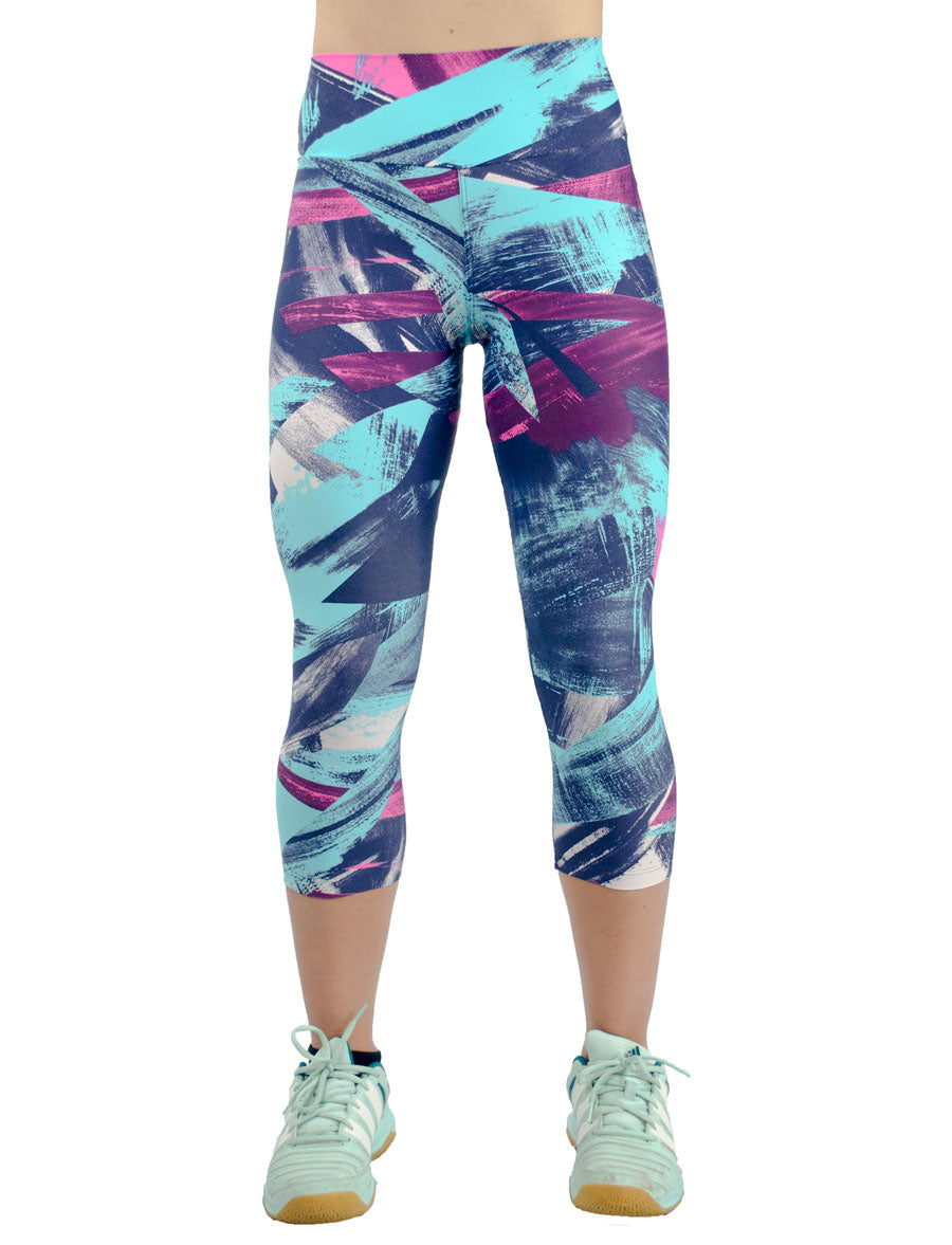 Purple Capris - women yoga clothes beBrazil
