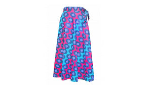 Traditional African Print Cotton Skirts (Wrap Skirt)