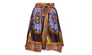 Traditional African Print Cotton Skirts (Knee Length)