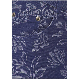 Floral Jacquard Jean Fashion Pants