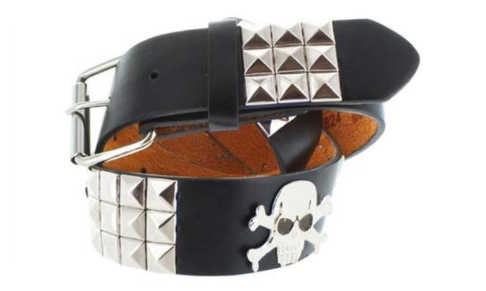 Studded Skull Faddism Leather Belt