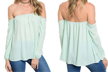Summery Off-Shoulder Chiffon Blouse
