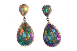 Drop Dangle Crystal Gem Tear Drop Earrings