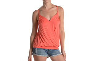 Summer Wrap Plunge Cami Knit Tee