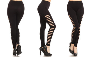 Day-to-Night Side-Ripped Design Leggings