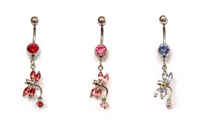 Stainless Steel Belly Rings - Fireflys
