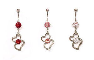 Stainless Steel Belly Rings - Attached At The Heart