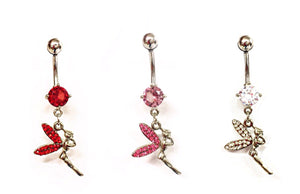 Stainless Steel Belly Rings - Tinkerbell