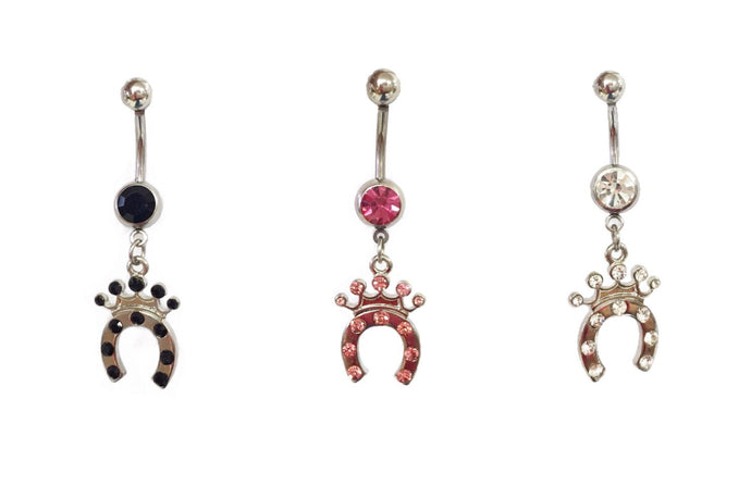 Stainless Steel Belly Rings - Royal Horseshoe