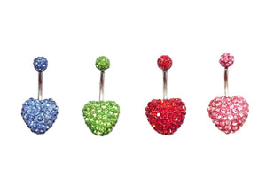 Stainless Steel Belly Rings - Bundle of Hearts