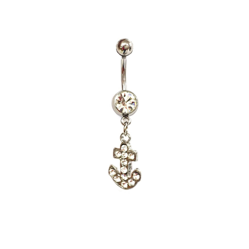 Stainless Steel Belly Rings - Anchors