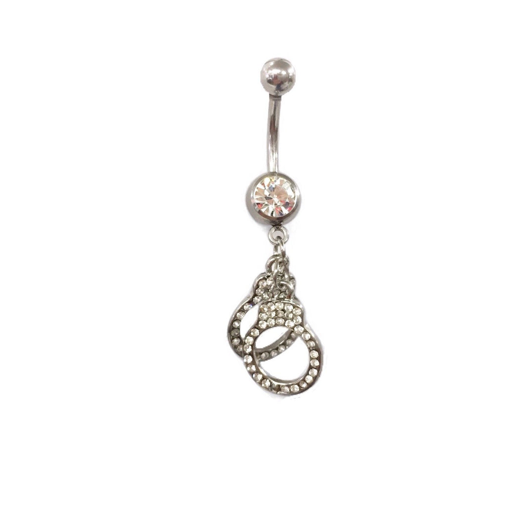 Stainless Steel Belly Rings - Sexy Handcuffs