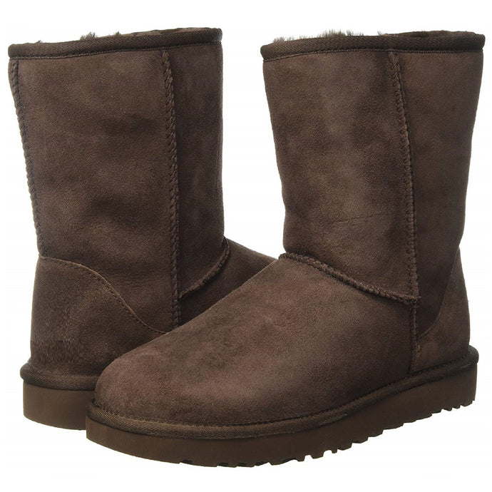 Eskimo Mid-Calf Comfort Boots with Suede & Fur (Brown)