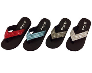 Slip-On Crystal Thong Sandals