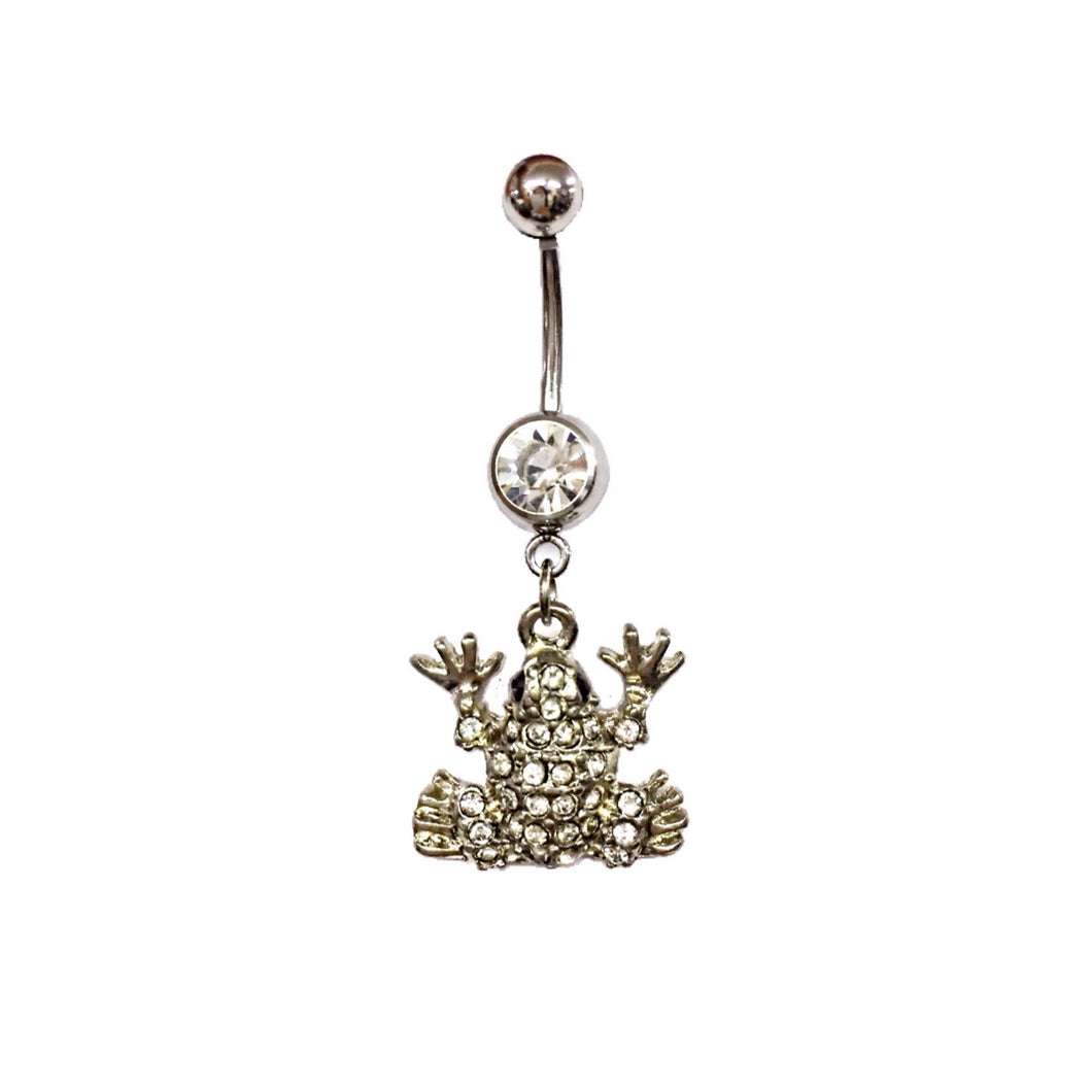 Stainless Steel Belly Rings - Frog
