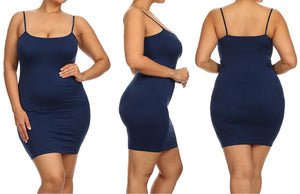 Seamless Form-Fitting Cami Tunic Dress (Regular and Plus Size)