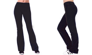 Full Length Cotton Active Pants with Folded Waistband