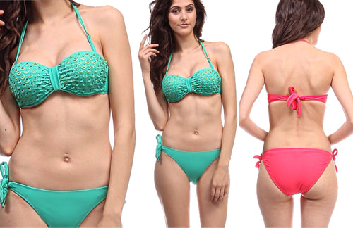 Summer Mermaid with Rhinestones Bikini Set