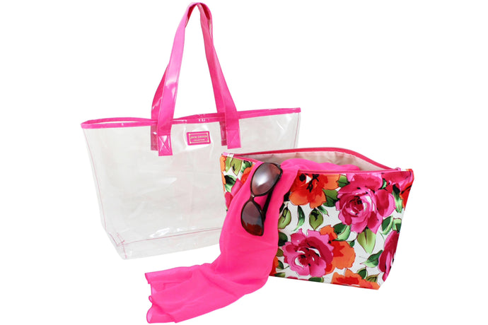 Jacki Designs' Tropicana Tote Bag Set (2 Piece Set)