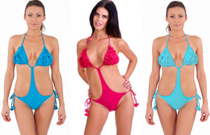 Monokini Adjustable Summer Swimwear with Ruffles