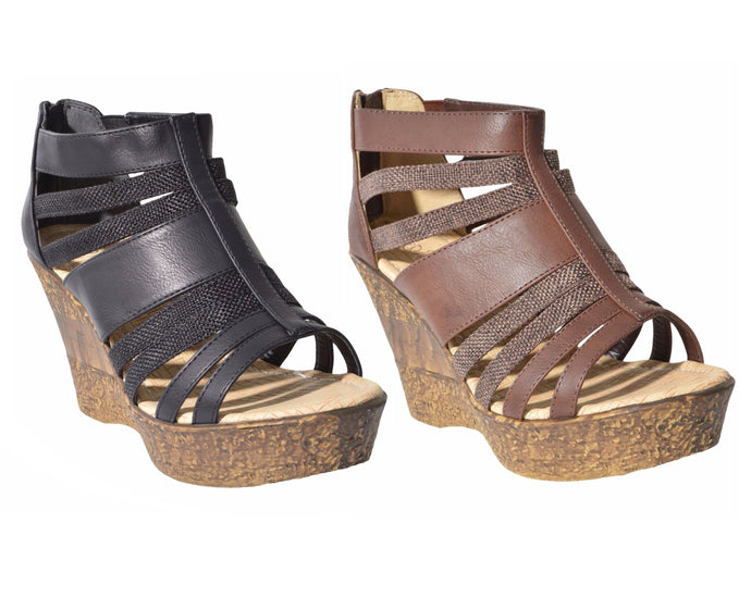 Totally Strappy Wedge Sandals