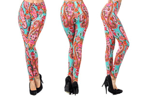 Color Me Paisley Highlights Stretch & Super Soft Leggings
