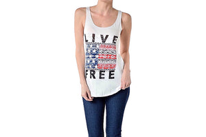 July 4th 'Live Free' Patriot Tee - Freedom Collection