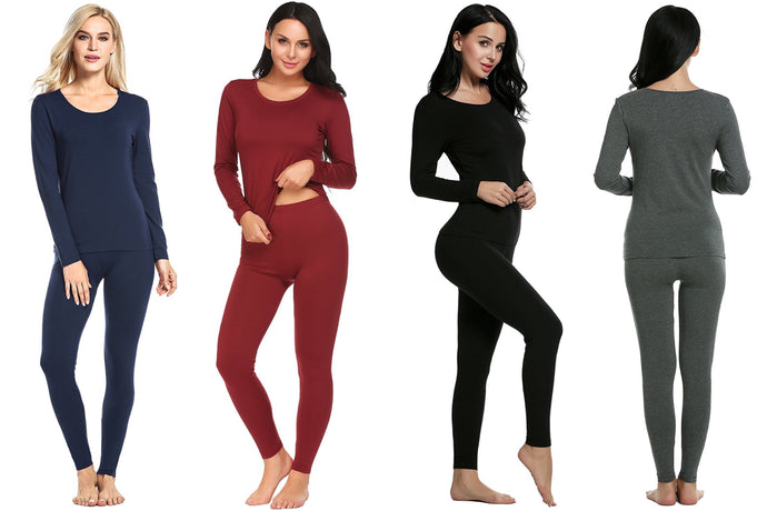 Thermal and Fleece Lined Top and Bottom Set