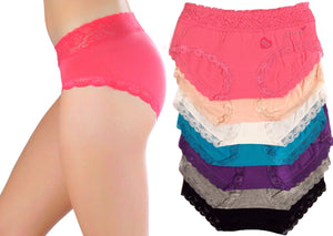 Love Rhinestone Lace Waistband Panties