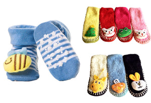 Girl's 3D Slip Resistant Sock Slippers (12 Pairs)