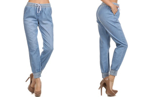 Relaxed Fit Fashion Jean Jogger Pants