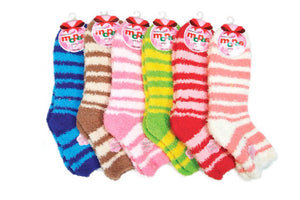 Fuzzy Soft Plush Fleece Socks (12 Pairs)