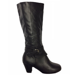 Wide Calf Riding Low Heel Boots