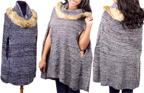 Pullover Comfort Poncho with Armholes