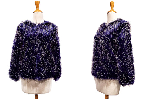 Shaggy & Feathered Fur Coat