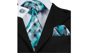 Designer Silk Tie Set (Green)