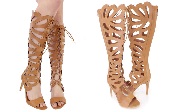 Lace Up Gladiator High Heels