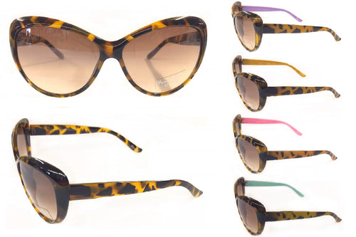 Oversized Cateye & Rhinestone Fashion Sunglasses