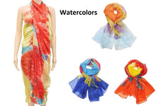 Large Lightweight Ombre Sheer Chiffon Sarong Wrap Cover Up Dress Swim Scarf