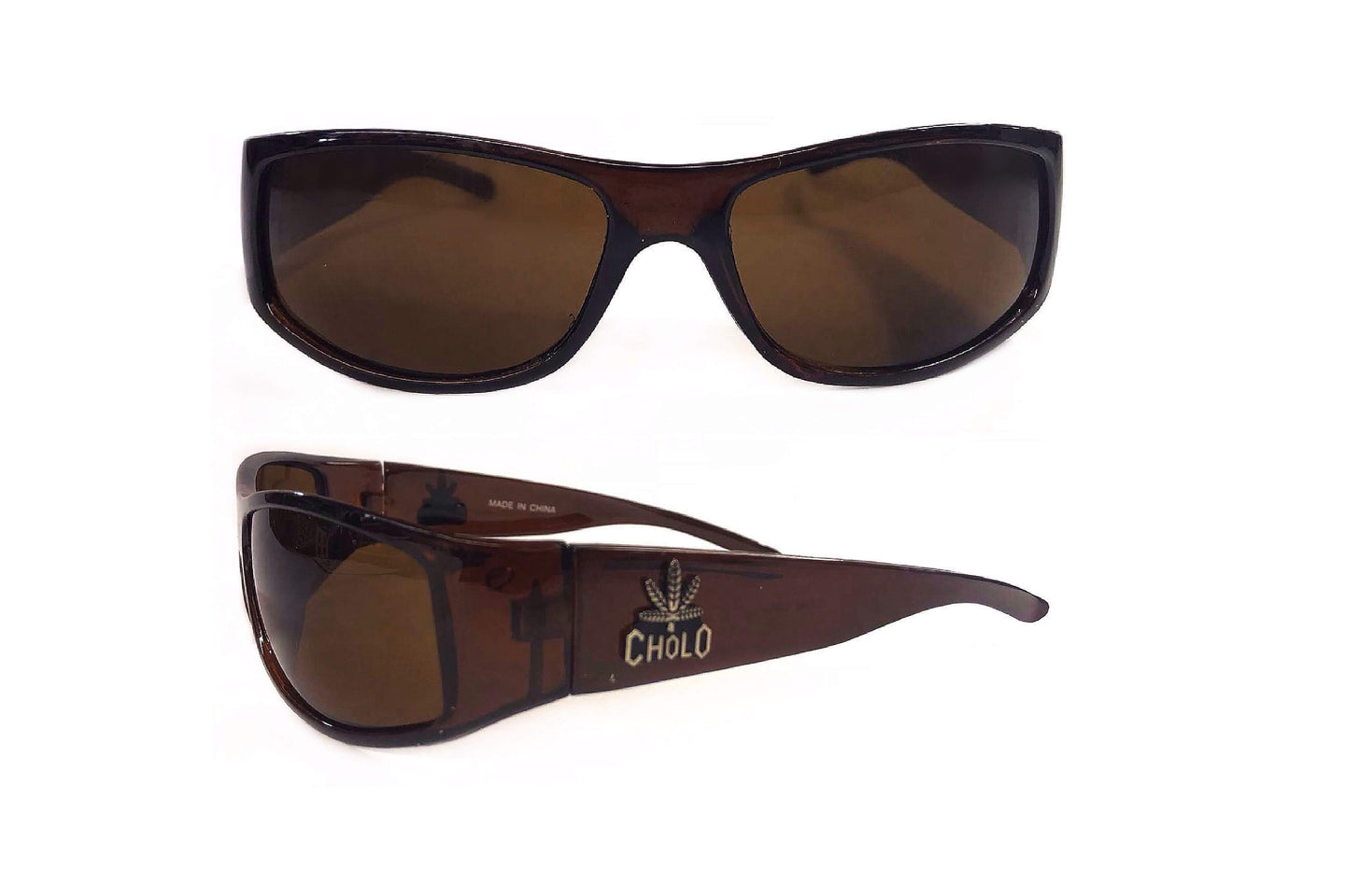 Retro Rectangular Sunglasses (Cholo Weed)