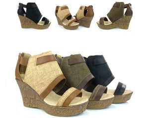 Classic Platform Wedge Sandals