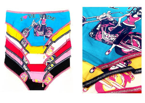 'Love Ride' Girl Biker Bikini Panties